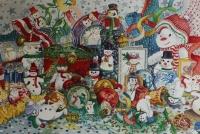 Snowmen. Design for Christmas Cards
