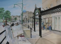 Buxton; Watercolour approx 50x70cms. Entry for Buxton Spa Prize 2015