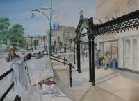 Buxton; Watercolour approx 50x70cms. Entry for Buxton Spa Prize 2015