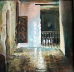 Passageway: oil on canvas