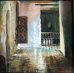 Passageway: oil on canvas
