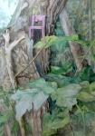 """Perch"" Watercolour 70x50cms"