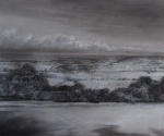 """""""From Coach Lane"""" graphite and pastel 35x45cms approx unframed"""