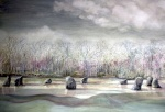 """Nine Ladies"" watercolour 72x92cms"