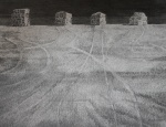 """Sentinels"" graphite 40x50cms"