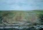 """Tracks"" watercolour 59x75cms"