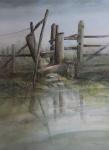 """Stile"" watercolour 90x74cms"
