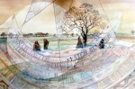"""Dial Spring [Nine Stones Close/Grey Ladies]"" watercolour 50x70cms"