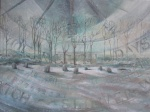 """Dial Winter [The Nine Ladies Stone Circle]"" oil on canvas 45x60cms"