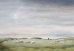 """Winter Sun [Arbor Low]"" oil on canvas 60x80cms"