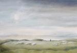 """Winter Sun [Arbor Low]"" oil on canvas 60x80cms"