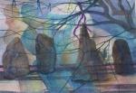 """Shadow Dance [Harthill]"" watercolour 53x68cms"