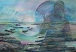 """Shadow Dance"" [arbor low] watercolour 53x68cms"