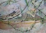 """Marking Time:2"" watercolour 45x55cms"