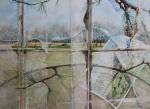 """Marking Time: 1"" watercolour 45x55cms"