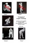 Cricket sketches. Original drawings.