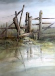"""""""Stile"""" Watercolour. Highly Commended. Derbyshire Open Exhibition"""